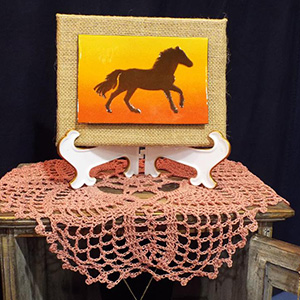 enamel horse
