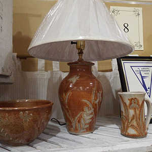 pots and lamp